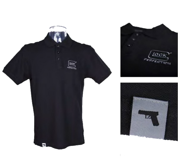 Polo Glock Perfection II black, izmērs: L, XL, XXL