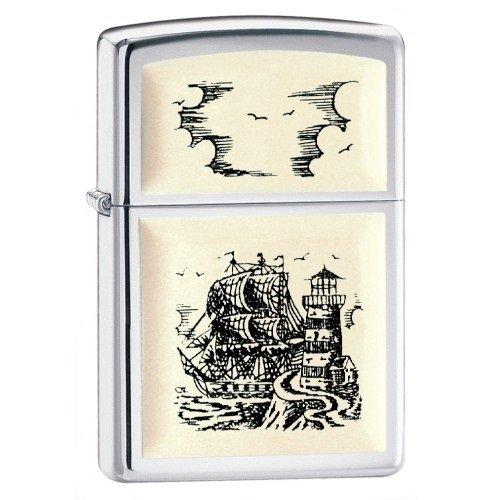 "ZIPPO šķiltavas ""Scrimshaw Ship"" 359 art.359"