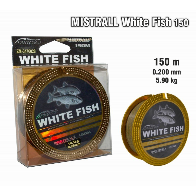 "Aukla Mistrall ""White Fish"" 020 art.MWFISH-020"