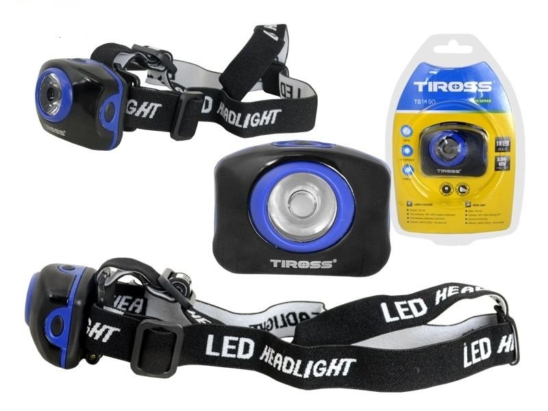 "Galvas Lukturis Tiross 1W LED 3xAAA ""TS-1190"" art.TS-1190"