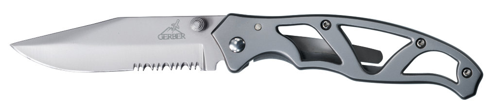 Nazis Gerber Paraframe II - Stainless, Serrated art.22-48447