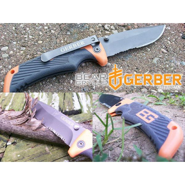 Knife Gerber Bear Grylls Survival Series Scout, Drop Point, Serrated art.31-000754