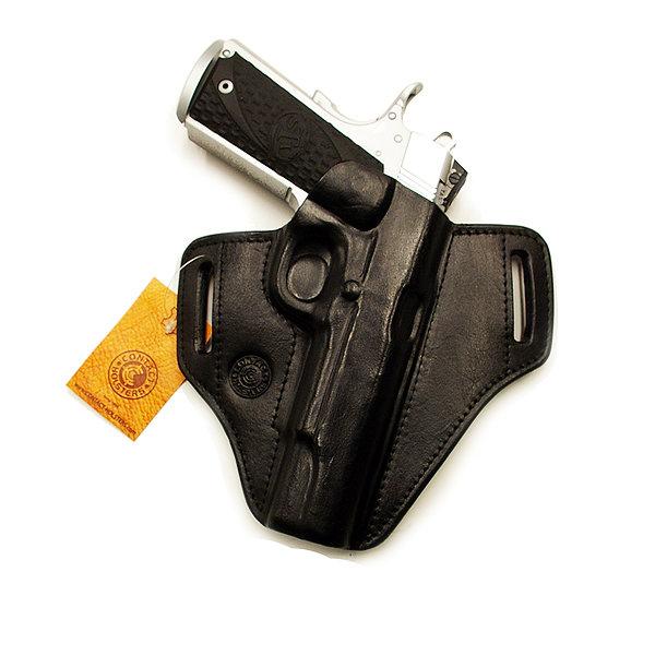 Belt holster-leather, press fitted V2 PR
