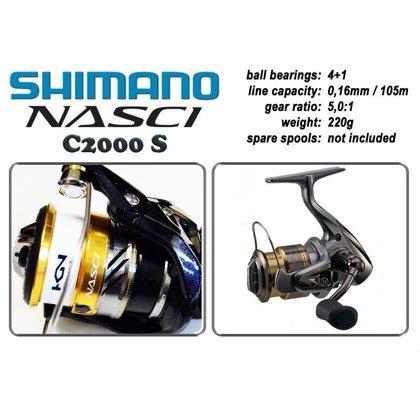 "Катушка Shimano ""Nasci"" C2000 S art.NASC2000S"