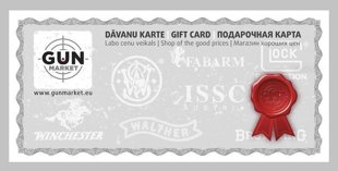 Gift card(classical) 20 EUR, FREE DELIVERY ON LATVIA!