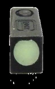 Мушка Glock стальная люминесцентная