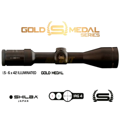 Riflescope Shilba GOLD MEDAL series 1,5-6x42 IRG 4