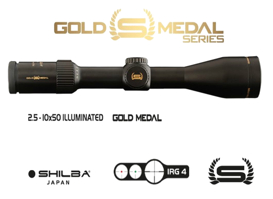 Riflescope Shilba GOLD MEDAL series 2,5-10x50