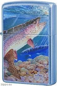 "ZIPPO šķiltavas ""Gay Harvey - Rainbow Trout"" 24451 art.24451"