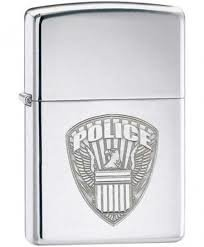 "ZIPPO šķiltavas ""US Police"", High Polish Chrome 24702 art.24702"