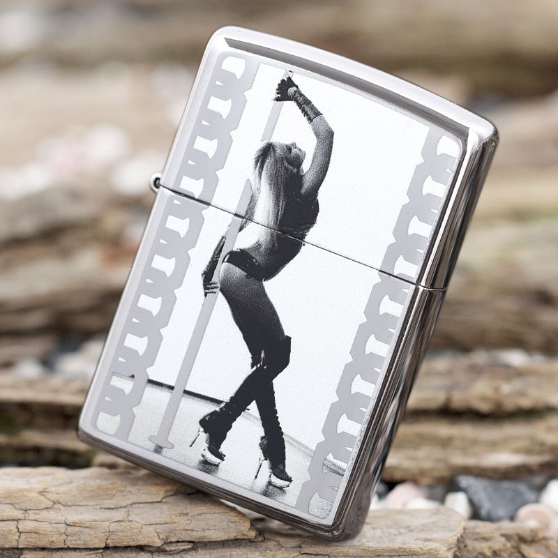 "ZIPPO šķiltavas ""Pole Dancer"" High Polish Chrome 28448 art.28448"