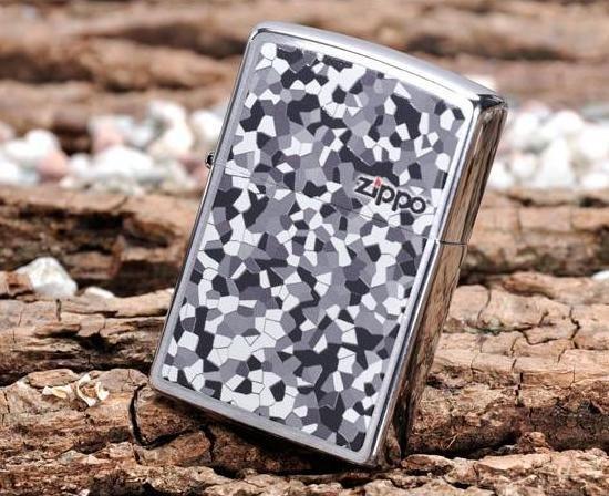 """ZIPPO šķiltavas """"Mosaic Brushed Chrome"""" 24807 art.24807"""